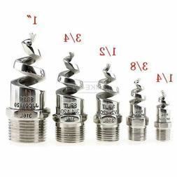 """1/4"""" 1/2"""" Stainless Steel Spiral Cone Atomization Spray Nozz"""