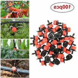 100 pack irrigation sprinklers watering drippers adjustable