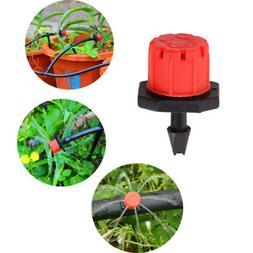 100 x Adjustable Flow Water Garden Irrigation Drip Dripper H