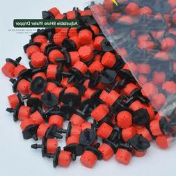 100pc Adjustable 8Hole Dripper Drip Irrigation System Plant