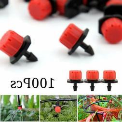 100Pc Adjustable Emitter Dripper Micro Drip Irrigation Sprin