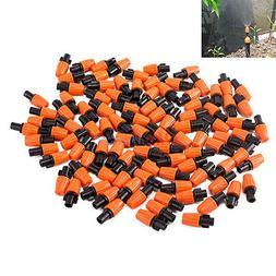 100x Garden Plant Irrigation Adjustable Dripper Drip Micro-s