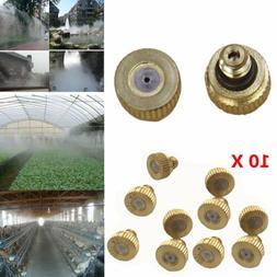 10pcs Brass Atomization Water Fog Mist Low Pressure Tap Nozz