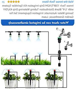 "138ft Drip irrigation kit sprinkler system with 1/4"" blank d"