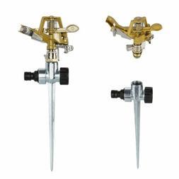 1x360° Rotary Zinc Alloy Water Irrigation Sprayer Sprinkler
