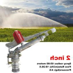 """2"""" 360° Adjustable Impact Sprinkler Large Area Water Irriga"""
