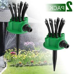 2 auto 360 rotating lawn water sprinkler