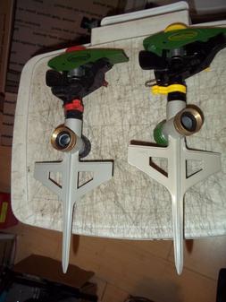 2 PC Green Thumb Polymer Impulse Sprinkler for Lawn on Metal