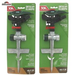 2 Pulsating Sprinkler Head Metal Spike Lawn Watering ~ NEW