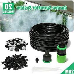 20m Water Irrigation Kit Set Micro Spray Watering System Pla