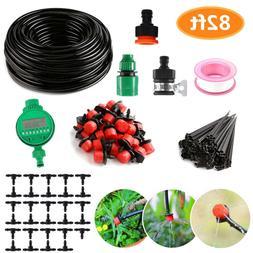 25m Drip Lawn Sprinkler Irrigation System Timer Self Plant W