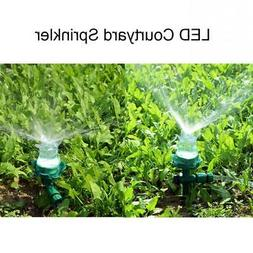 2Pcs LED Lawn/garden Sprinklers Automatic Garden Watering Ir