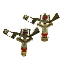 2pcs/set Metal Impact Sprinkler Head for Yard Watering- Lawn