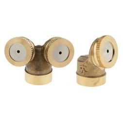 2x Brass Spray Misting Nozzle Sprinkler Head for Garden Lawn
