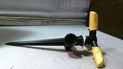 3 Arm Sprinkler, Black & Yellow, Spike, Plastic,  FREE SHIPP