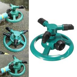 3 Nozzle Circle Lawn Garden Sprinkler For Home Use Hose Irri