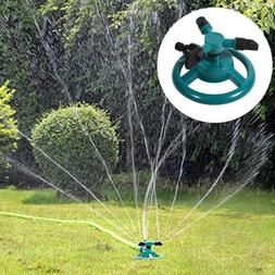 3 Nozzle Rotating Sprinkler Garden Lawn Grass Watering Syste