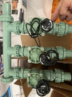 3 valve inline manifold sprinkler assembly heavy