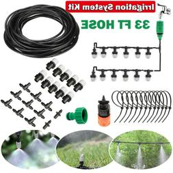 33 ft Drip Irrigation System Plant Garden Self Watering Hose