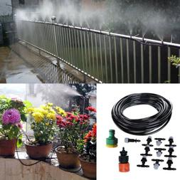 33ft Garden Patio Misting Cooling System Water Mister Nozzle