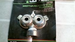Melnor 34C Metal Twin Circular Pattern Sprinkler, Brass, FRE