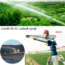 360° Adjustable Impact 1''Irrigation Spray Gun Sprinkler Gu