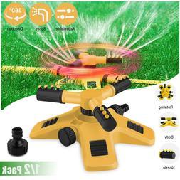 360 Auto Garden Lawn Sprinkler System Patio Yard Hose Irriga