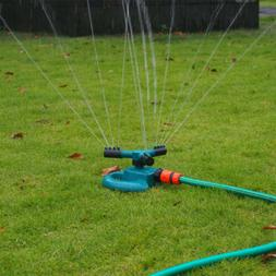Auto Rotating Nozzle 3-Arm Garden Sprinklers Lawn Watering G