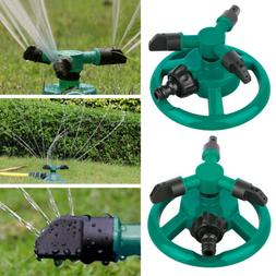 360 Degree Rotating 3-Arm Garden Sprinkler Automatic Lawn Wa