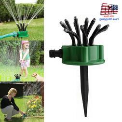 360° Lawn Water Sprinkler Head Automatic Garden Yard Spraye