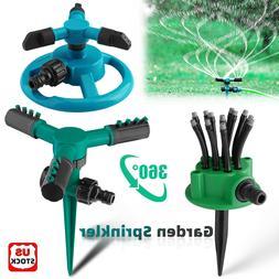 360° Rotating Lawn Water Sprinkler Automatic Garden Waterin