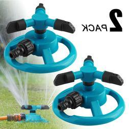 360 rotating lawn water sprinkler watering garden