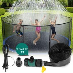 39ft/49ft Trampoline Sprinkler Kids Summer Outdoor Water Toy