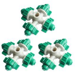 3PCS Nozzle Garden Sprinkler Cross Watering Adjustable Easy