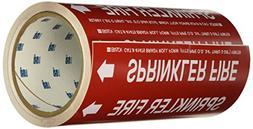 """Brady 41475 Roll Form Pipe Markers, B-946, 8"""" X 30', White O"""