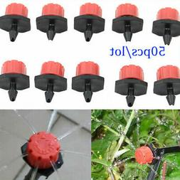 50pcs Adjustable Micro Drip Irrigation Watering Emitter Drip