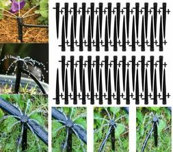 50Pcs Adjustable Water Flow Irrigation Drippers Stake Emitte