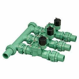 Orbit 57253 Pre-Assembled 3 Valve Sprinkler Manifold System,