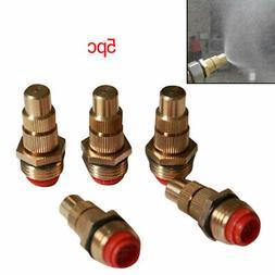 5pc 1/2Inch Brass Low Pressure Adjustable Mist Fog Spray Spr