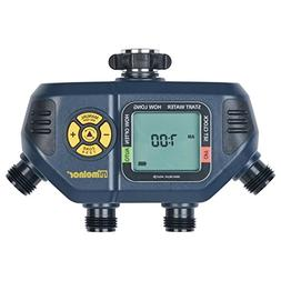 Melnor 63280 Digital Hose 4 Outlets Water Timer, Gray