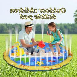 "67"" inch Kids Water Sprinkler Splash Pad Play Mat Diameter S"