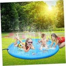"""67"""" Sprinkler Splash Play Mat Outdoor Summer Water Play Pad"""
