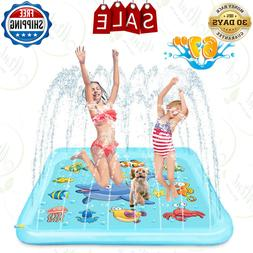 """67"""" Water Pool Sprinkler Play Mat - Water Toy for Baby Toddl"""