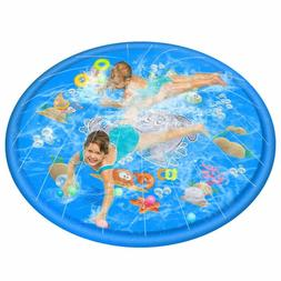 """68"""" Sprinkle and Splash Play Mat, Inflatable Outdoor Sprinkl"""