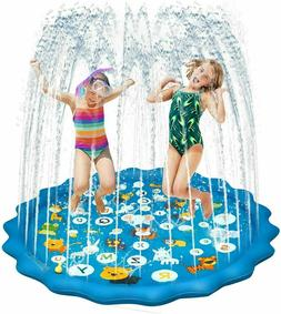 """68"""" Water Splash Sprinkler Pad Inflatable Kids Summer Play G"""