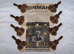 8 NOS Vintage CHAMPION Brass Pop-Up Sprinkler Heads Directio