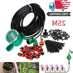 82 Feet DIY Micro Drip Irrigation System Plant Self Watering