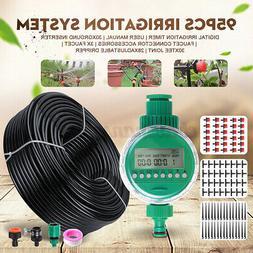 82ft/25m Auto Drip Irrigation System Kit Timer Micro Sprinkl