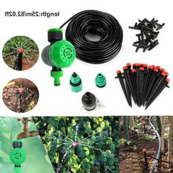 82ft Micro Drip Irrigation System Plant Self Watering Garden