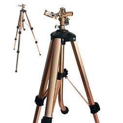 A5013D 2-PC Brass Impact Tripod Sprinkler with Heavy Duty Br